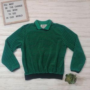 Vintage Knit Collection Striped Velvet Long Sleeve